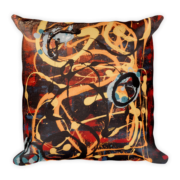 """The Metamorphosis of Curvaceous Motion"" Pillow"