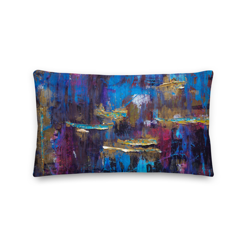"""Disjointed Brushstrokes Rearranged"" Pillow"
