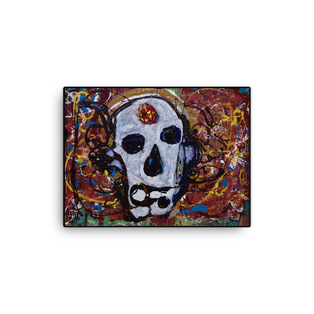 """Abstract Calavera"" Canvas Print"
