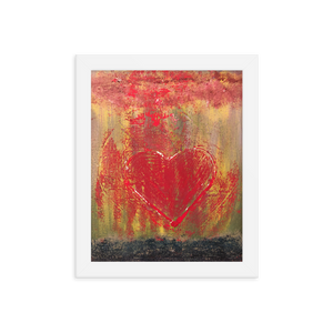 """Resonating Heart"" Framed Poster"