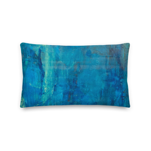 """Borealis Over the Sea"" Pillow"