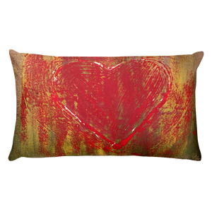 """Resonating Heart"" Pillow"