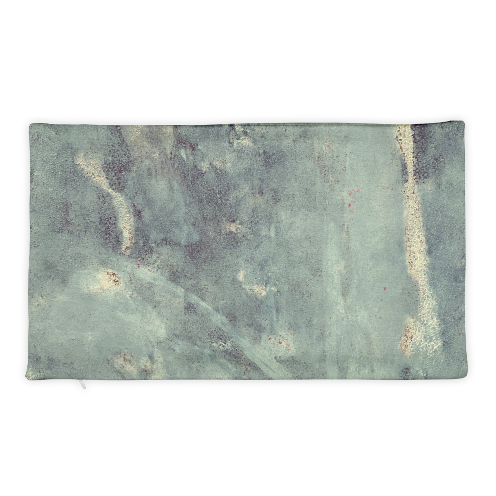 """Blue Concrete #1"" Pillow Case"