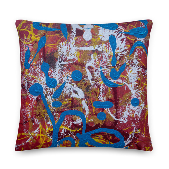 """Adventurous Extract from Torqued Morphism"" Pillow"