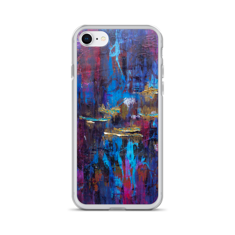 """Disjointed Brushstrokes Rearranged"" Liquid Glitter Phone Case"