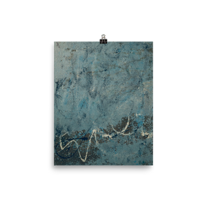 """Blue Concrete Abstract #2"" Poster"