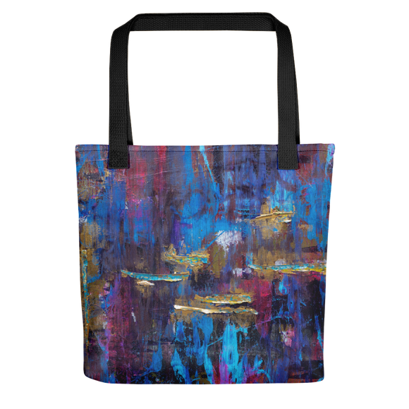 """Disjointed Brushstrokes Rearranged"" Tote Bag"