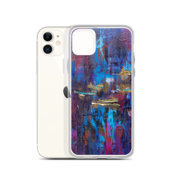 """Disjointed Brushstrokes Rearranged"" iPhone Case"