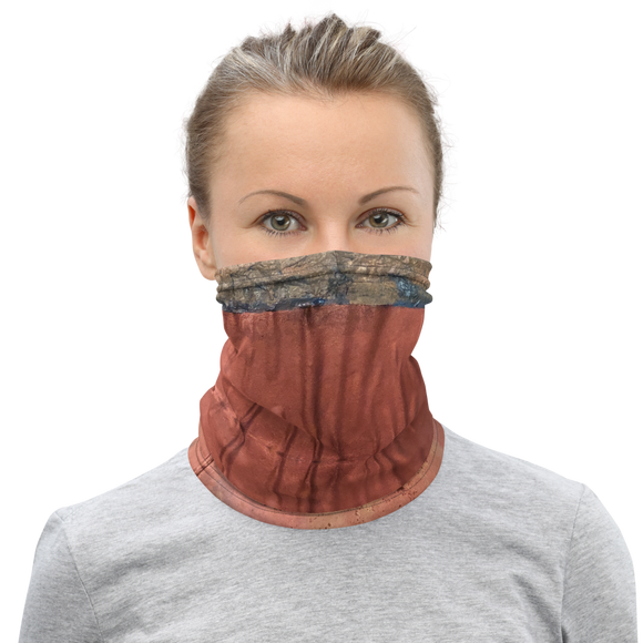"""Greed Decomposed on a Martian Desert"" Neck Gaiter Face Mask"