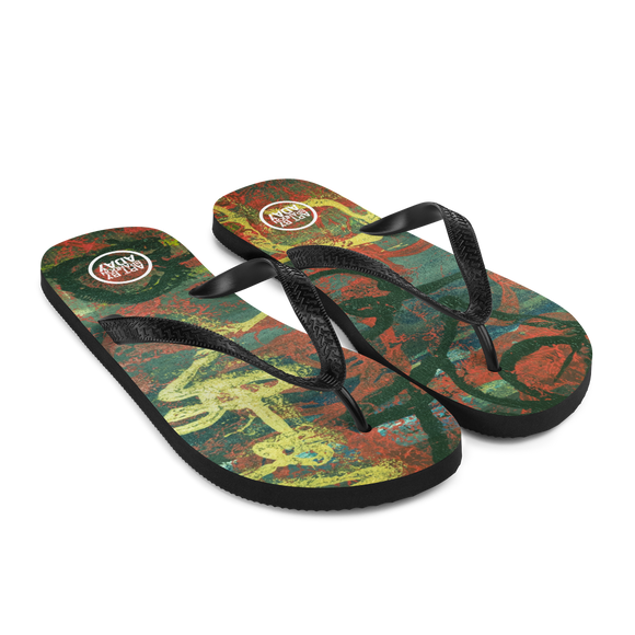 """Gold of Donato"" Flip-Flops"