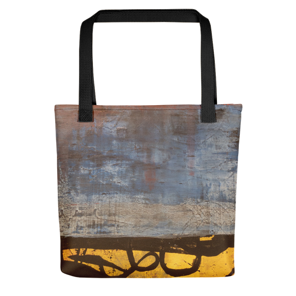"""Electric Silhouette of Bifurcated Interior"" Tote Bag"