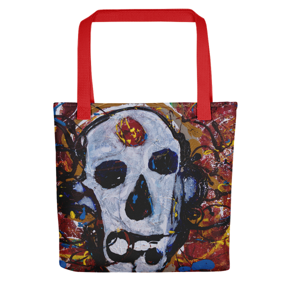 """Abstract Calavera"" Tote Bag"