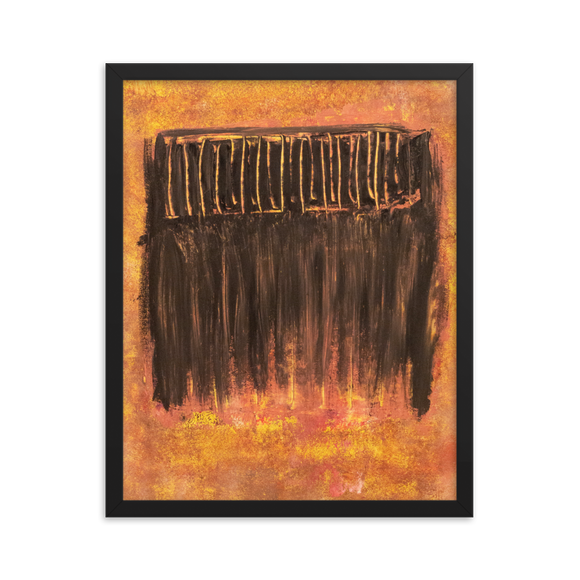 """Charred Metal Window"" Framed Poster"