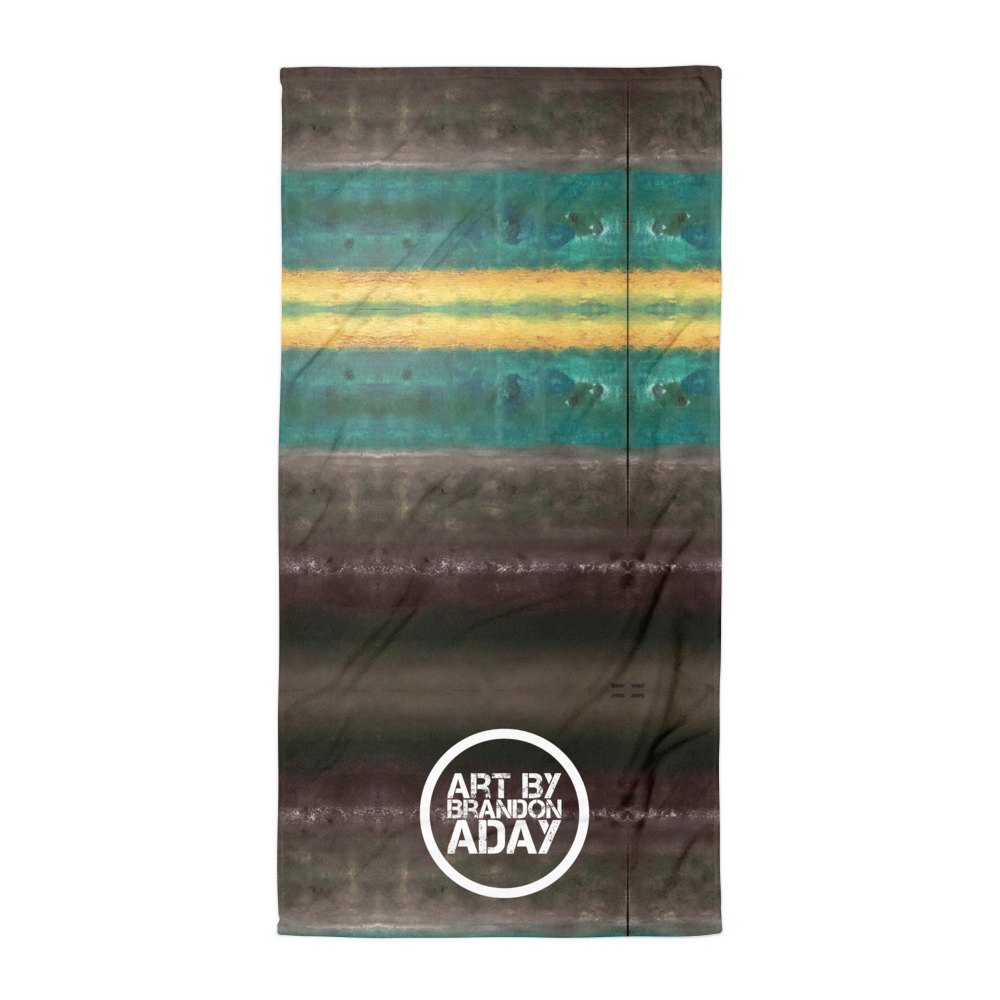 """Abstract Aurora Borealis"" Towel"