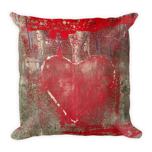 """Love is Messy"" Pillow"