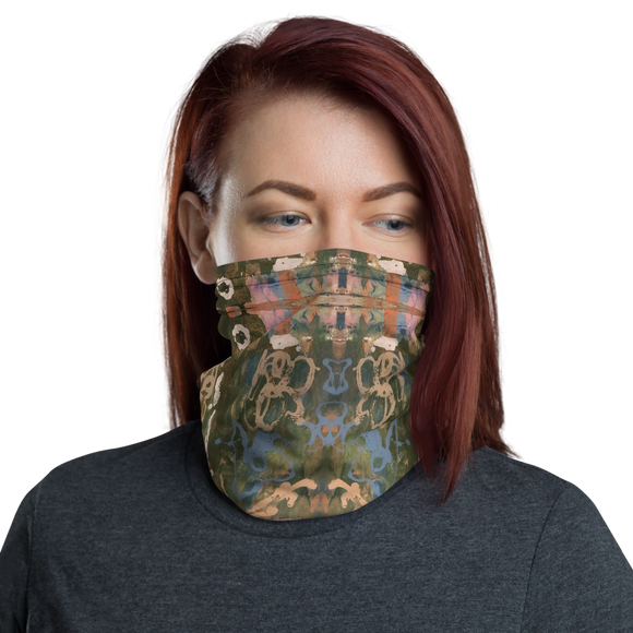 """Elusive Memory of Swirling Lovers"" Neck Gaiter Face Mask"