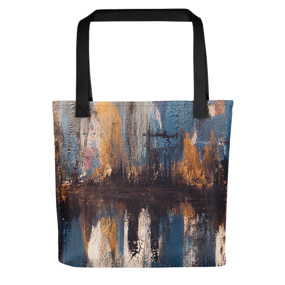 """Waveform of a Dreary Echo"" Tote Bag"