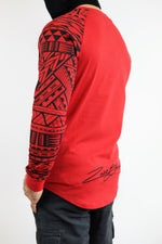 Premium Heavyweight RED/BLACK Long Sleeve