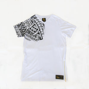 Premium Heavyweight Long-Line WHITE T-Shirts