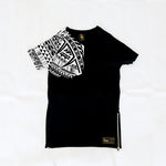 Premium Heavyweight Long-Line BLACK T-Shirts