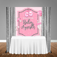 Pink Baby Shower 5x6 Table Banner Backdrop/ Step & Repeat, Design, Print and Ship!