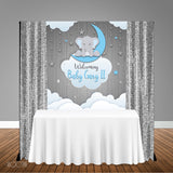 Elephant Baby Shower 5x6 Table Banner Backdrop/ Step & Repeat, Design, Print and Ship!