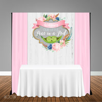 Two Peas in a Pod 5x6 Table Banner Backdrop/ Step & Repeat, Design, Print and Ship!
