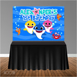 Baby Shark 6x4 Candy Buffet Table Banner Backdrop/ Step & Repeat, Design, Print and Ship!