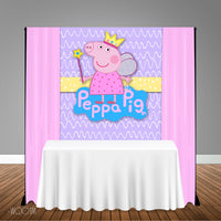 Peppa Pig Princess 5x6 Table Banner Backdrop/ Step & Repeat, Design, Print and Ship!