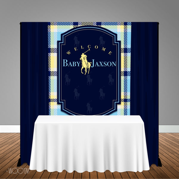 Polo Baby Shower 5x6 Table Banner Backdrop/ Step & Repeat, Design, Print and Ship!
