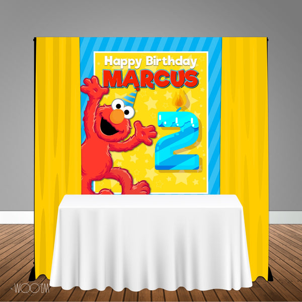 Elmo Party 5x6 Table Banner Backdrop/ Step & Repeat, Design, Print and Ship!