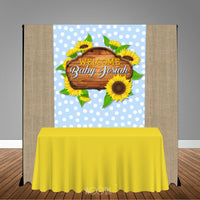 Sunflower 5x6 Table Banner Backdrop/ Step & Repeat, Design, Print and Ship!