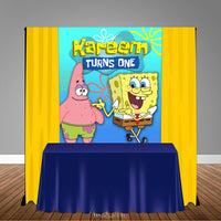 Sponge Bob Patrick Star 5x6 Table Banner Backdrop/ Step & Repeat, Design, Print and Ship!
