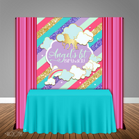 Unicorn Glitter 5x6 Table Banner Backdrop/ Step & Repeat, Design, Print and Ship!