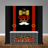 Mr. ONEderful 6X6 Table Banner Backdrop with 6ft Table Wrap/ Step & Repeat, Design, Print and Ship!