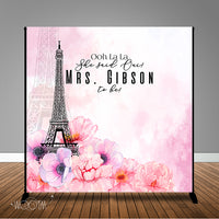 Parisian Themed Bridal Shower 8x8 Backdrop / Step & Repeat, Design, Print and Ship!