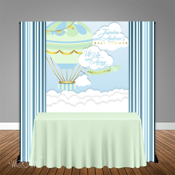 Hot Air Balloon Baby Shower 5x6 Table Banner Backdrop/ Step & Repeat, Design, Print and Ship!