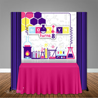 Science Lab 6x6 Banner Backdrop Design, Print and Ship!