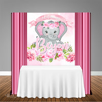 Pink Elephant Baby Shower 5x6 Table Banner Backdrop/ Step & Repeat, Design, Print and Ship!