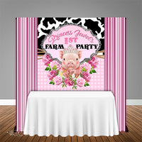 Farm Princess 5x6 Table Banner Backdrop/ Step & Repeat, Design, Print and Ship!