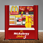 Burger & Fries 6X6 Table Banner Backdrop with 6ft Table Wrap, Design, Print and Ship!