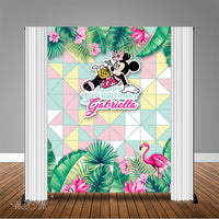 Tropical Minnie Mouse Birthday  6x8 Banner Backdrop/ Step & Repeat Design, Print and Ship!