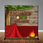 One Happy Camper 8x8 Backdrop / Step & Repeat, Design, Print and Ship!
