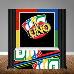 Uno First Birthday 6X6 Table Banner Backdrop with 6ft Table Wrap, Design, Print & Ship!
