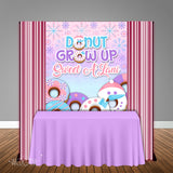 Donut Grow Up Winter Onederland 5x6 Table Banner Backdrop/ Step & Repeat, Design, Print and Ship!