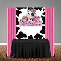 Pink Cow 5x6 Table Banner Backdrop/ Step & Repeat, Design, Print and Ship!