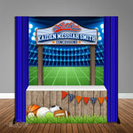 ALL STAR Sports Concession Stand  6X6 Table Backdrop with 6ft Table Wrap, Design, Print & Ship!