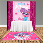 Abby Cadabby 5x6 Table Banner Backdrop/ Step & Repeat, Design, Print and Ship!
