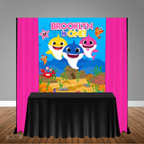 Shark 5x6 Table Banner Backdrop/ Step & Repeat, Design, Print and Ship!