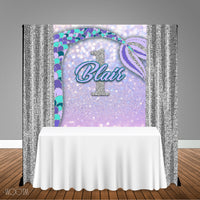 Sparkle Mermaid 5x6 Table Banner Backdrop/ Step & Repeat, Design, Print and Ship!